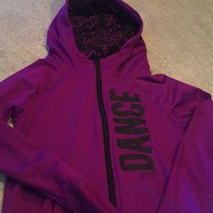 Justice Active Dance zip up hoodie size 8